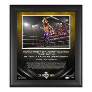 Damian Priest NXT Takeover 31 15 x 17 Commemorative Plaque