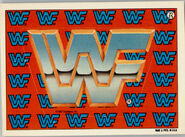 1987 WWF Wrestling Cards (Topps) Sticker WWF Logo 22