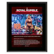 Charlotte Flair Royal Rumble 2020 10x13 Commemorative Plaque