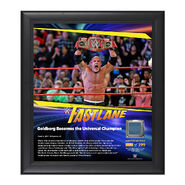 Goldberg FastLane 2017 15 x 17 Framed Plaque w Ring Canvas