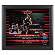 Braun Strowman TLC 2018 15 x 17 Framed Plaque w Ring Canvas