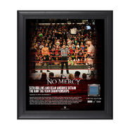 Dean Ambrose & Seth Rollins No Mercy 2017 15 x 17 Framed Plaque w Ring Canvas