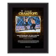Roman Reigns Clash of Champions 2020 10 x 13 Commemorative Plaque