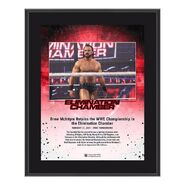 Drew McIntyre Elimination Chamber 2021 10x13 Commemorative Plaque