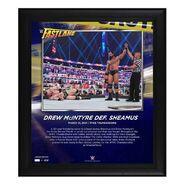 Drew McIntyre FastLane 2021 15 x 17 Commemorative Plaque