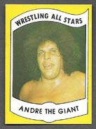 1982 Wrestling All Stars Series A and B Trading Cards Andre the Giant (No.1)