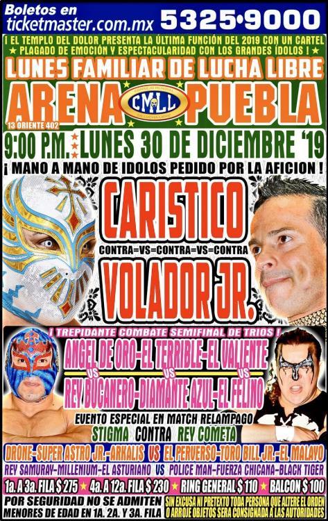 CMLL Lunes Arena Puebla (December 30, 2019)