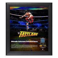 Shinsuke Nakamura FastLane 2018 15 x 17 Framed Plaque w Ring Canvas
