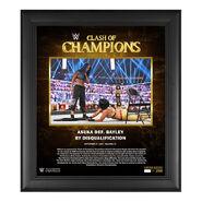 SmackDown Women's Championship Clash of Champions 2020 15 x 17 Commemorative Plaque