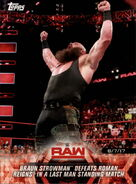 2018 WWE Road to Wrestlemania Trading Cards (Topps) Braun Strowman 45