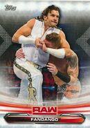 2019 WWE Raw Wrestling Cards (Topps) Fandango 30