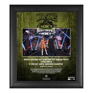 Johnny Gargano NXT WarGames 2020 15x17 Commemorative Plaque