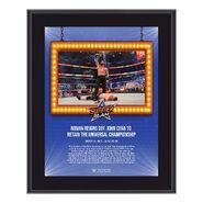 Roman Reigns SummerSlam 2021 10x13 Commemorative Plaque