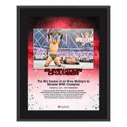 The Miz Elimination Chamber 2021 10x13 Commemorative Plaque