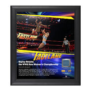 Bayley FastLane 2017 15 x 17 Framed Plaque w Ring Canvas