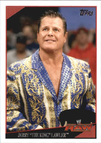 """2009 WWE (Topps) Jerry """"The King"""" Lawler (No.53)"""