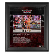 Charlotte Flair & Asuka TLC 2020 15 x 17 Commemorative Plaque