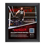 Kevin Owens Payback 2016 15 x 17 Framed Ring Canvas Photo Collage