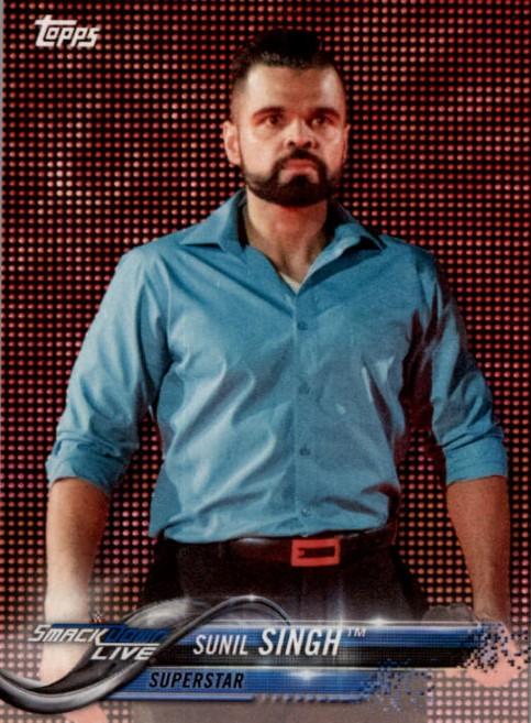 2018 WWE Wrestling Cards (Topps) Sunil Singh (No.87)