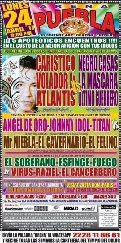 CMLL Lunes Arena Puebla (April 24, 2017)