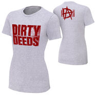 Dean Ambrose Dirty Deeds Women's Authentic T-Shirt
