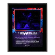 Undertaker Survivor Series 2020 10 x 13 Commemorative Plaque