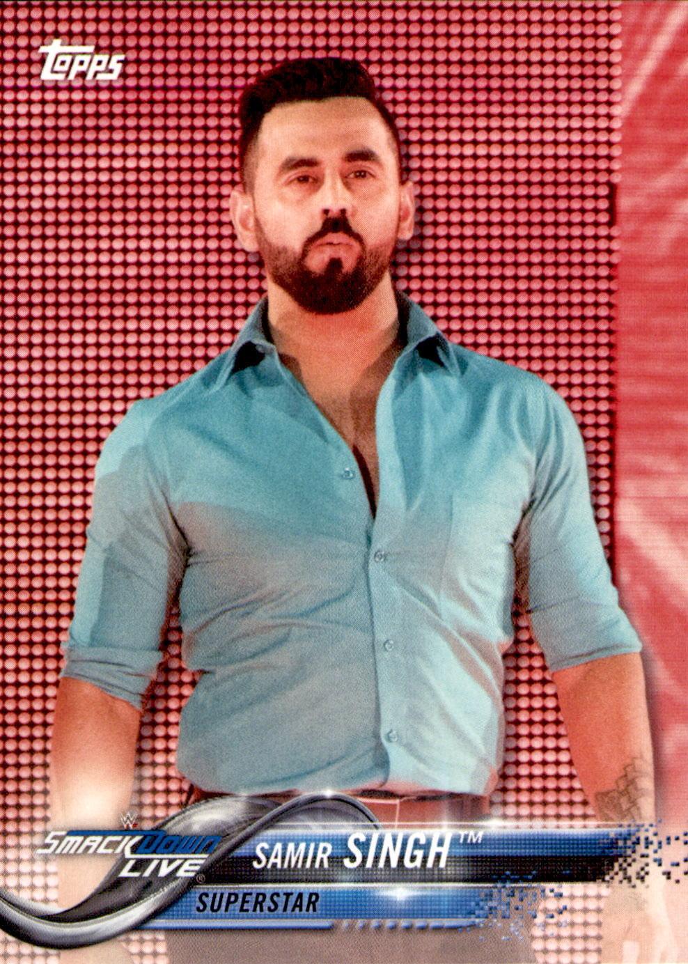 2018 WWE Wrestling Cards (Topps) Samir Singh (No.81)