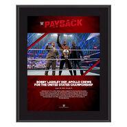 Bobby Lashley Payback 2020 10x13 Commemorative Plaque