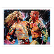 Edge vs. Randy Orton 11 x 14 Rob Schamberger Art Print