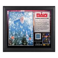 Goldberg Return to RAW Commemorative 15 x 17 Framed Plaque w Ring Canvas