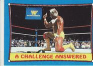 1987 WWF Wrestling Cards (Topps) A Challenge Answered 36