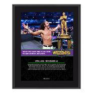 Matt Hardy WrestleMania 34 10 x 13 Photo Plaque