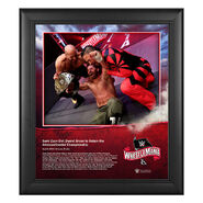 WrestleMania 36 Sami Zayn 15 x 17 Limited Edition Plaque