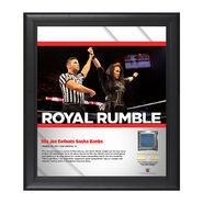 Nia Jax Royal Rumble 2017 15 x 17 Framed Plaque w Ring Canvas