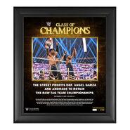 Street Profits Clash of Champions 2020 15 x 17 Commemorative Plaque