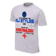 WrestleMania 34 AJ Styles vs. Shinsuke Nakamura Match T-Shirt