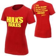 Hulk Hogan Hulk's Rules women's T-Shirt