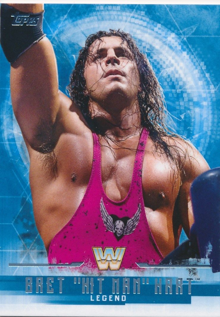 2017 WWE Undisputed Wrestling Cards (Topps) Bret Hart (No.62)