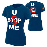 John Cena U Can't Stop Me Navy Women's Authentic T-Shirt