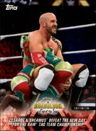 2018 WWE Road to Wrestlemania Trading Cards (Topps) Cesaro & Sheamus 8