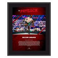 Big E Payback 2020 10x13 Commemorative Plaque