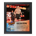 Brock Lesnar SummerSlam 2016 15 x 17 Framed Plaque w Ring Canvas