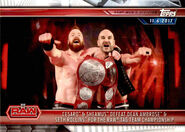 2019 WWE Road to WrestleMania Trading Cards (Topps) Cesaro & Sheamus 9