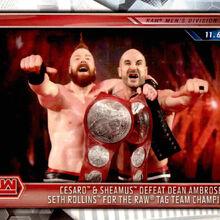2019 WWE Road to WrestleMania Trading Cards (Topps) Cesaro & Sheamus 9.jpg
