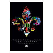 WrestleMania 34 Fleur-De-Lis Poster