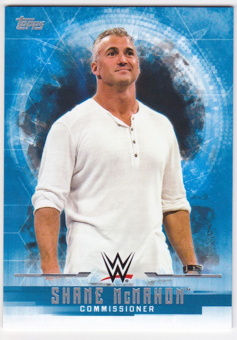 2017 WWE Undisputed Wrestling Cards (Topps) Shane McMahon (No.34)