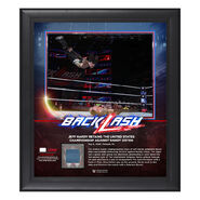 Jeff Hardy BackLash 2018 15 x 17 Framed Plaque w Ring Canvas