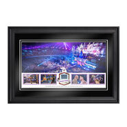 WrestleMania 30 Commemorative Framed Plaque with Authentic Ring Canvas
