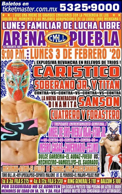 CMLL Lunes Arena Puebla (February 3, 2020)