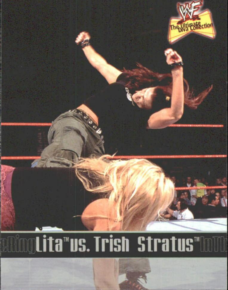 2001 WWF The Ultimate Diva Collection (Fleer) Lita vs. Trish Stratus (No.83)